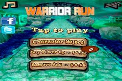 Warrior Run мод (свободные покупки) ради андроид